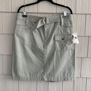 GAP Cargo Skirt With Detachable Belt Size 14